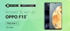 Amazon Oppo F15 Quiz Answer- 18th Jan 2021